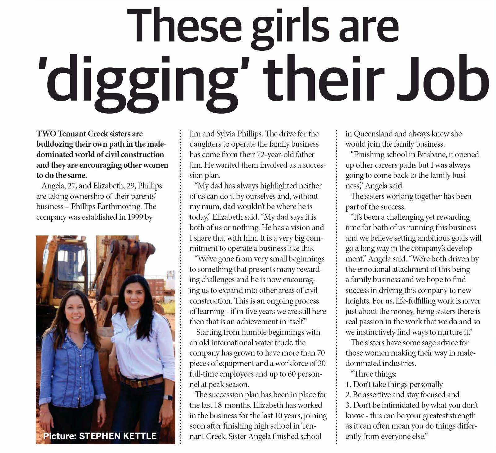 Nt News Business Review - These Girls Are Digging Their job