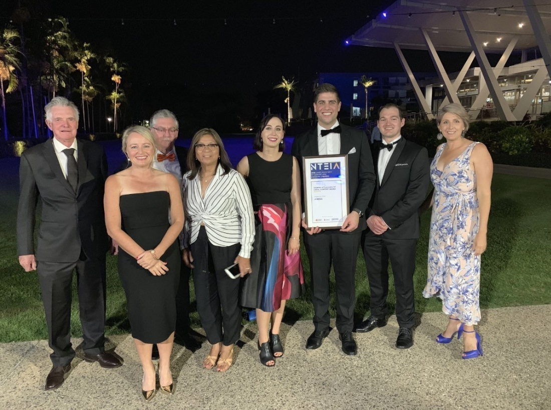 Local Content award at the 2018 Chief Minister's NT Export & Industry Awards.